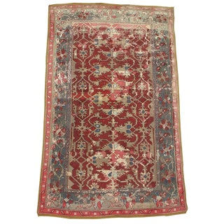 17th Century Anatolian Lotto Rug - 4′ × 6′ For Sale
