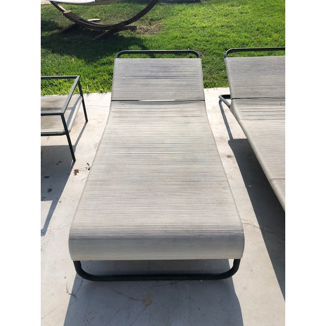 Off-white Vintage Walter Lamb Brown Jordan Patio Furniture- 2 Pieces For Sale - Image 8 of 13