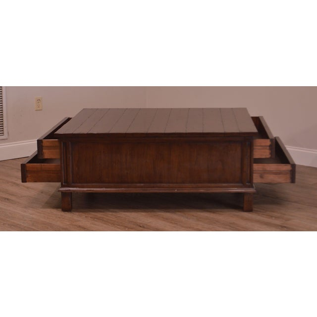 Guy Chaddock & Co. Country English Map Cocktail Coffee Table For Sale In Philadelphia - Image 6 of 12