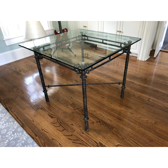 Metal 1960s Italian Cast Aluminum Dining Table For Sale - Image 7 of 13