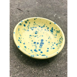 Yellow and Blue Splatter Print Ceramic Bowl Preview