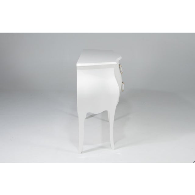 1990s 1990s Hollywood Regency Fendi Moviestarorous White Lacquer Commode For Sale - Image 5 of 12