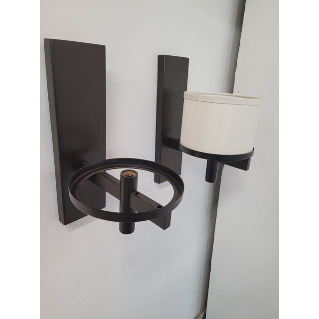 Contemporary Paul Marra Design Silk Drum Sconce - a Pair For Sale - Image 3 of 6