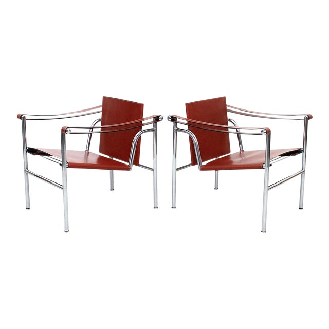 Pair of Le Corbusier LC1 Lounge Chairs for Cassina For Sale