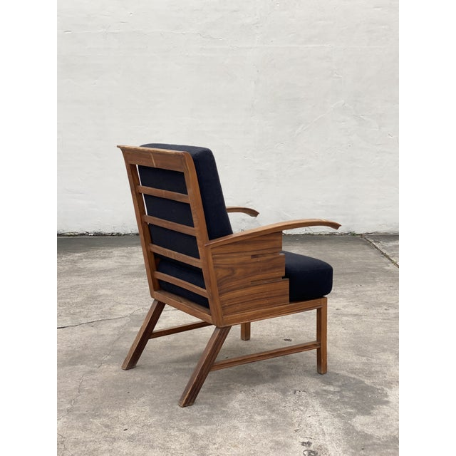 An unusual mid-century rosewood armchair with striking design details by an unknown Danish cabinetmaker, circa 1940. The...