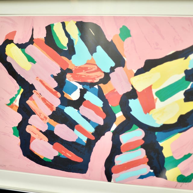 Karel Appel (Dutch, 1921-2006), Lying in Color (Pink Cat) 1979, color lithograph on paper, numbered lower left, pencil...