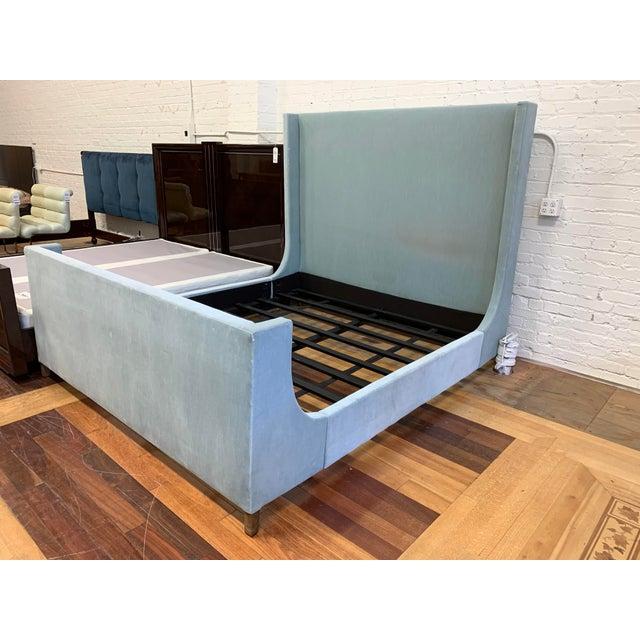 Restoration Hardware California King Restoration Hardware Grayson Fabric Bed + Footboard For Sale - Image 4 of 12