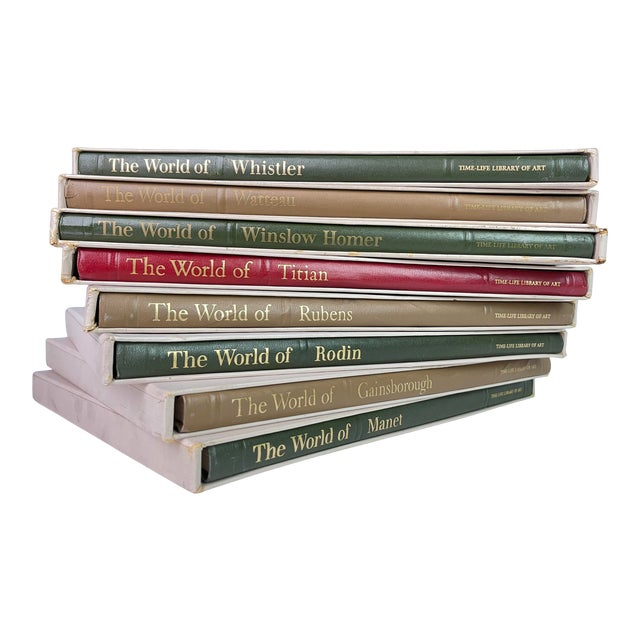 Vintage History of Art Famous Artists Book Collection - Set of 8 For Sale