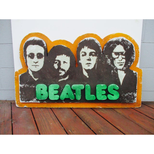 Beatles Authentic Capitol Record Promo Display 1970s Wall Decor Record Vinyl Collectors Beatles Fans - Image 4 of 8