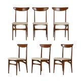 Image of Set of 6 Danish Dining Chairs For Sale