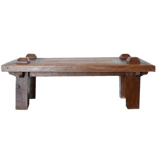 Vintage Teak Indonesian Coffee Table For Sale