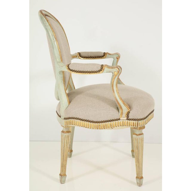 Pair of Louis XVI Style Fauteuils For Sale - Image 9 of 10