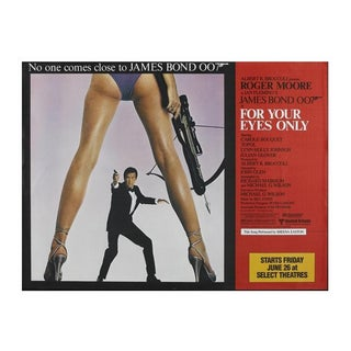 """James Bond 007 """"For Your Eyes Only"""" Original Movie Subway Poster 1981 Linen Backed Huge 53 X 67 For Sale"""
