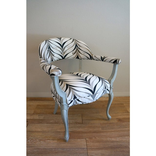 Vintage Art Deco Style Arm Chairs - Pair - Image 7 of 8