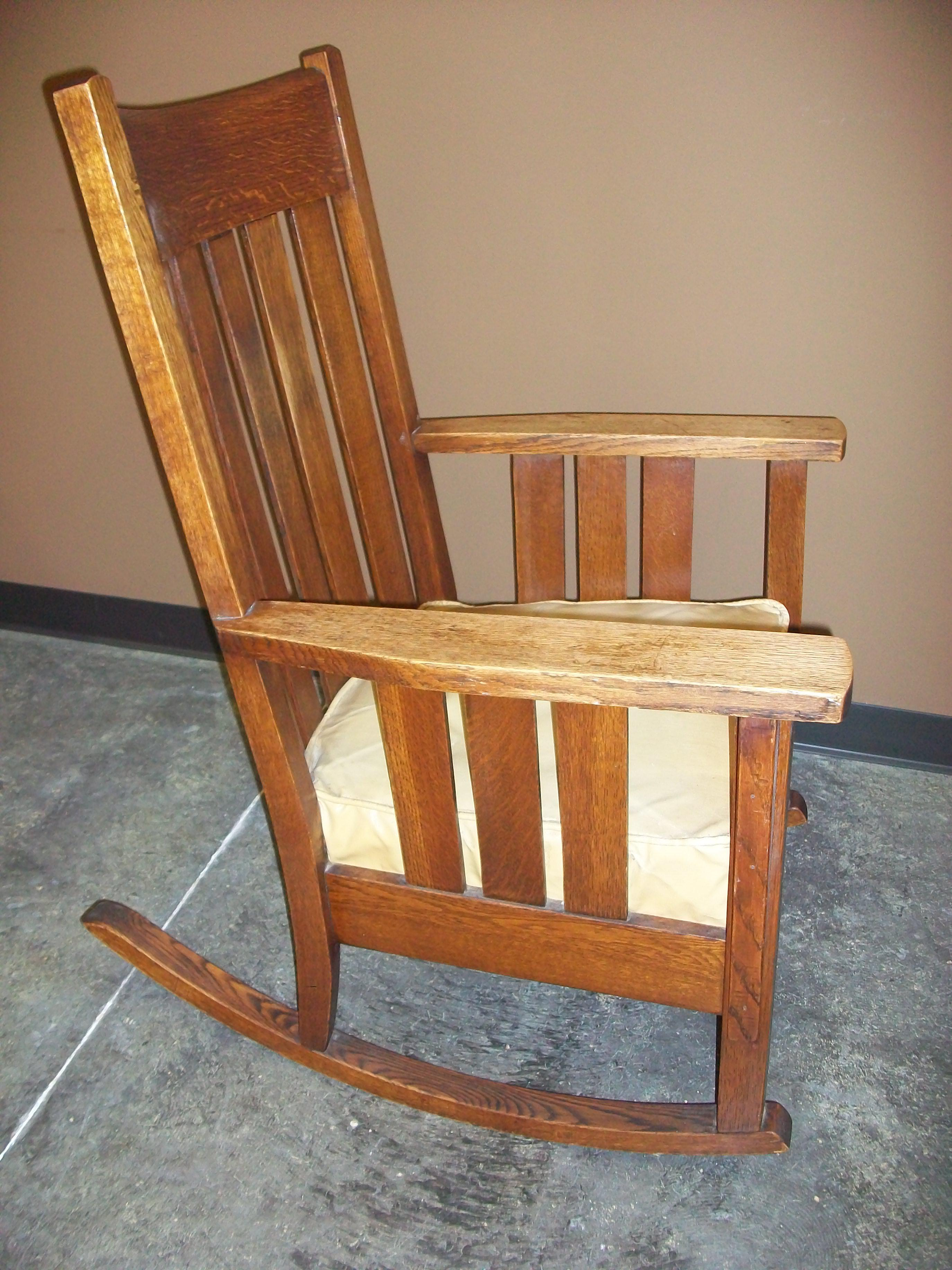 Label Says Phoenix Chair Co. Sheboygan, WI. Charming And Comfy Rocking Chair .