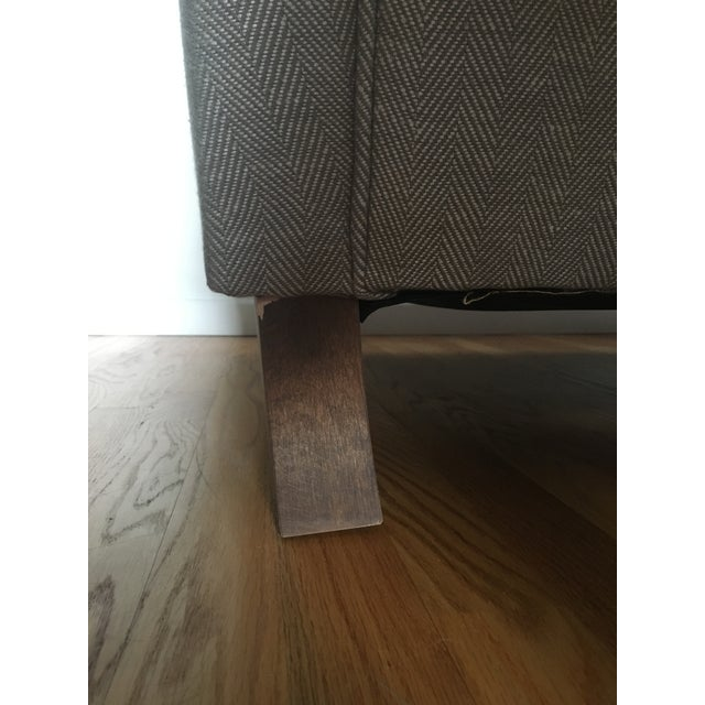 Gray English Roll Arm Sofa For Sale - Image 8 of 13