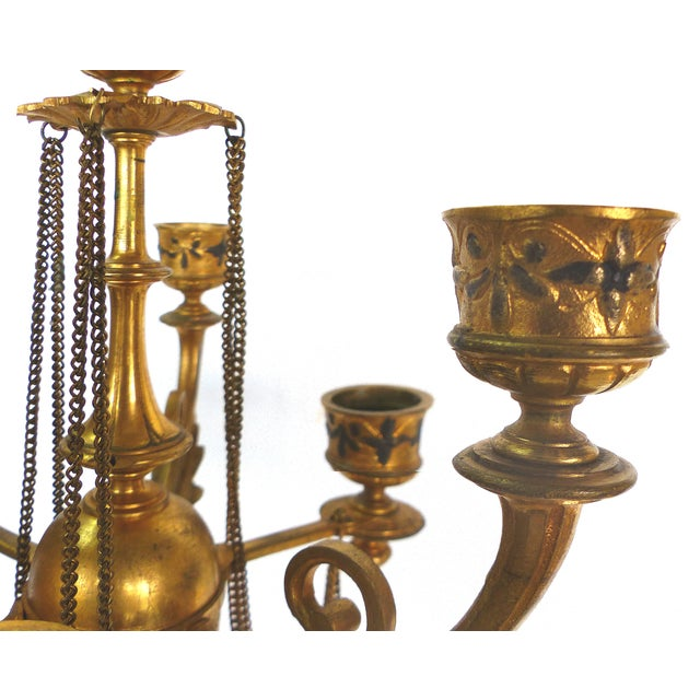 1800s Neoclassical Dore Candelabras - A Pair - Image 4 of 10