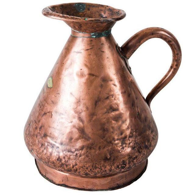 Large four gallon Victorian English copper Ale- Beer Haystack measuring jug.