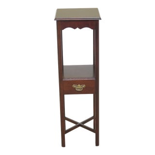 Chippendale Style Tall Mahogany Planter Stand For Sale