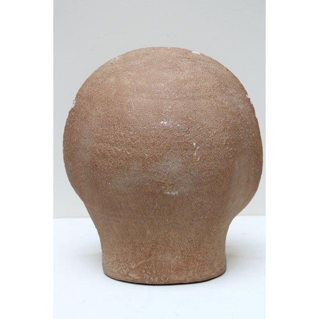 Tan Mid-Century Sun Face Sculpture For Sale - Image 8 of 9