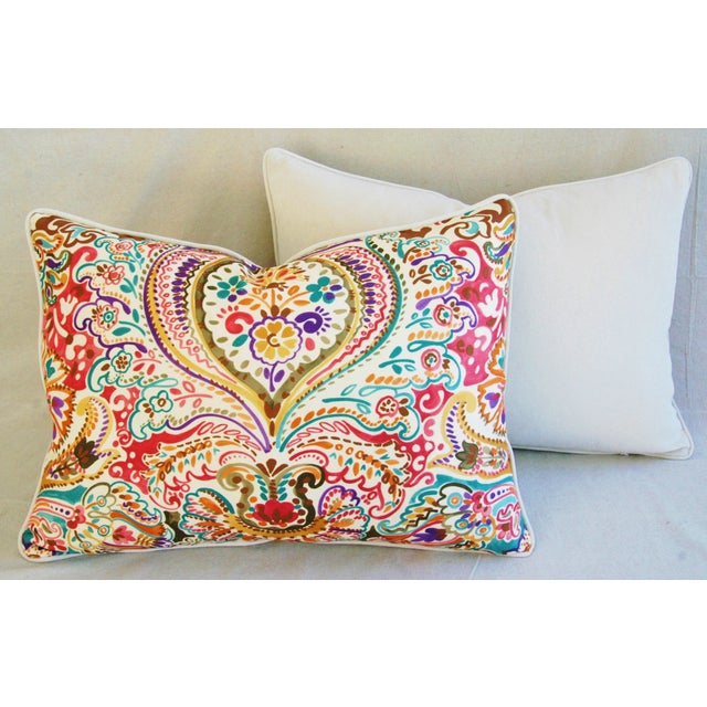 Custom Colorful Cotton & Linen Pillows - Pair - Image 10 of 11