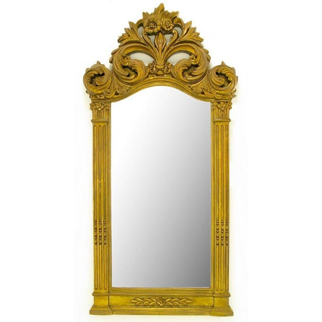 """Rococo Two 55"""" Tall Rococo Style Gilt Composition Mirrors For Sale - Image 3 of 7"""