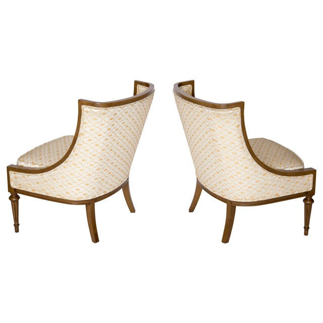 Slipper Chairs by Hibriten, A Pair - Image 8 of 10