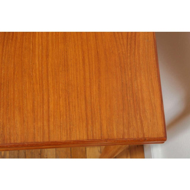 Mid 20th Century Danish Mid Century Sap Walnut Game Table For Sale - Image 5 of 11