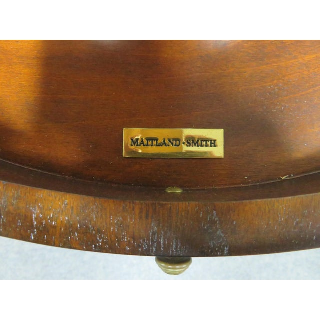 Late 20th Century Maitland Smith Mahogany Dumbwaiter Serving Table For Sale - Image 5 of 6