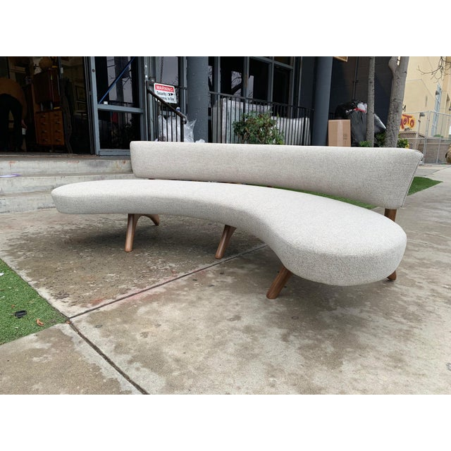"""2010s Custom Sculptural """"Kagan"""" Style Sofa For Sale - Image 5 of 5"""