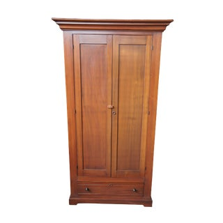 19th Century Victorian Walnut Armoire For Sale