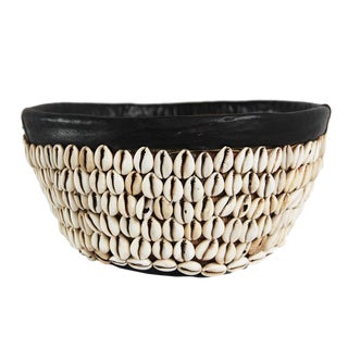 Vintage Cowry Shell Basket