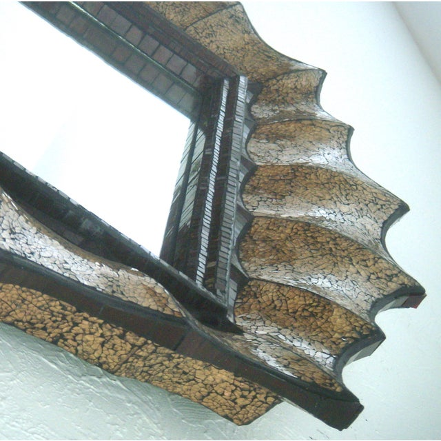 Art Glass John Richard 'Spider Web' Designer Mirror For Sale - Image 7 of 10