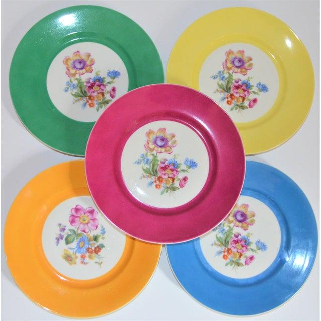 Mid 20th Century Vintage Richard Ginori Italian Botanical Porcelain Plates - Set of 5 For Sale - Image 5 of 12