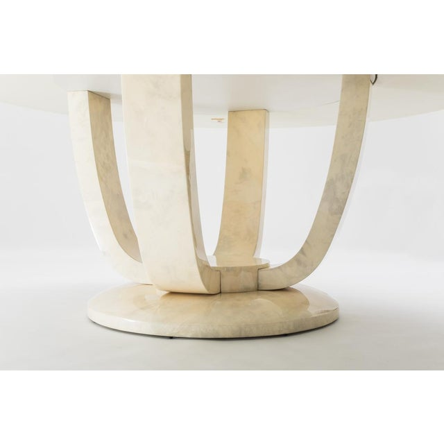 Modern Monumental Goatskin Dining Table, Usa For Sale - Image 3 of 5