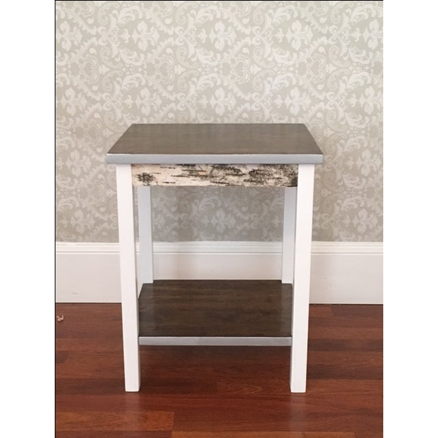 Rustic Farmhouse End Tables - a Pair - Image 5 of 5