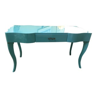 """Tiffany Blue "" Vanity Desk For Sale"