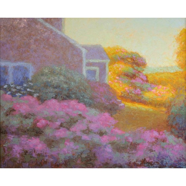 Oil Paint Rob Longley, Rosa Rugosa, Late Afternoon Painting, 2017 For Sale - Image 7 of 7