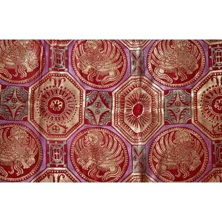 Venetian Ceiling Silk Velvet Pillow Cover For Sale