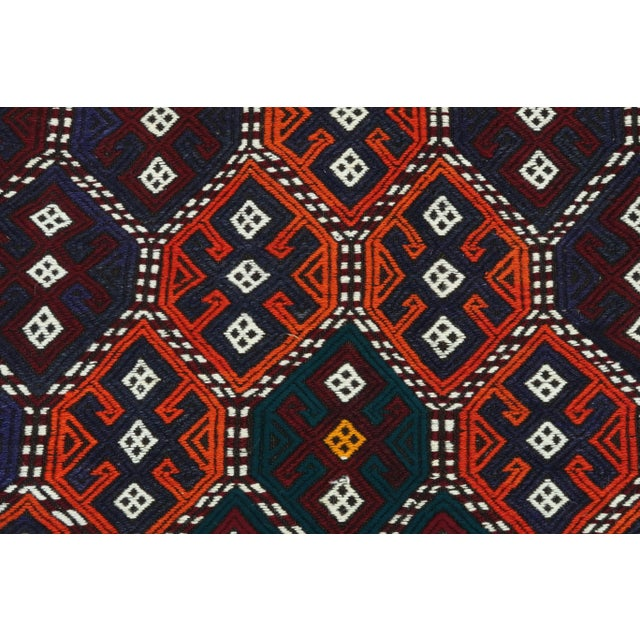 Vintage Turkish Kilim Rug For Sale - Image 6 of 13