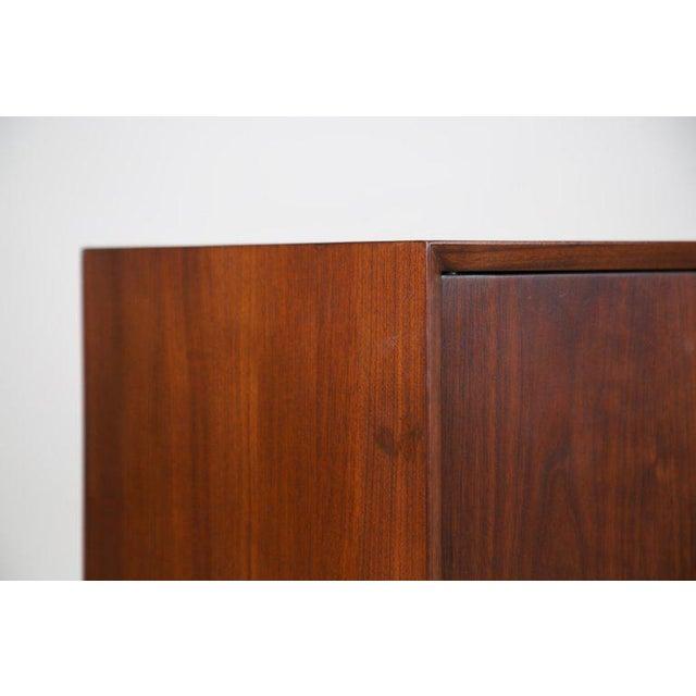 Walnut Small Mid-Century Modern Lockable Walnut Cabinet or Mini-Bar or Dry Bar For Sale - Image 7 of 13