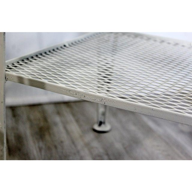 Mid-Century Modern White Set of Patio Tables Coffee Pair Side For Sale - Image 9 of 12
