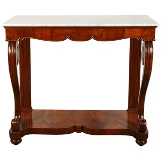 19th Century Northern Italian Mahogany Console For Sale