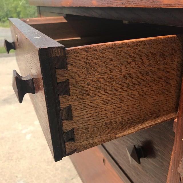 Antique Arts & Crafts Mission Tiger Oak Buffet Server Stickly Roycraft Era For Sale - Image 9 of 9