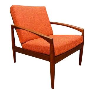 "Vintage Danish Mid Century Modern Teak ""Paper Knife"" Lounge Chair by Kai Kristiansen For Sale"