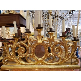 19th C. Gilt Wood Candelabra with 7 Candles Preview