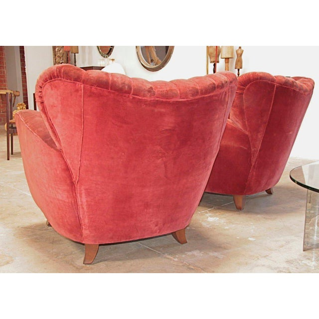 Early 20th Century Italian Armchairs attributed to Guglielmo Ulrich For Sale - Image 5 of 9