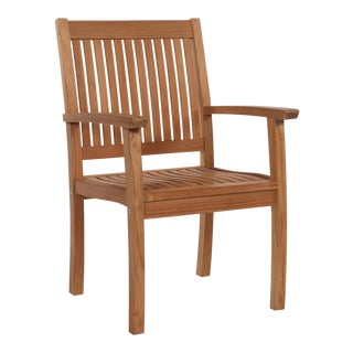 Buckingham Teak Wood Outdoor Dining Armchair For Sale