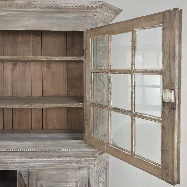 White 19th Century Country French Rustic Whitewashed Bookcase ~ Cabinet For Sale - Image 8 of 13