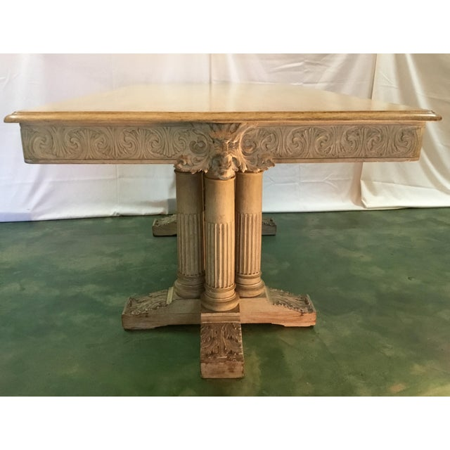19th C. Carved Bacchus Mahogany Table For Sale - Image 4 of 13